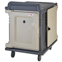 Cambro MDC1520S10DH191 Granite Gray 10 Tray Dual Access Meal Delivery Cart with 6 inch Heavy-Duty Casters