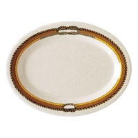 GET OP-120-RD 12 inch x 9 inch Diamond Rodeo Oval Platter - 12/Case