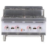 Cooking Performance Group CK-HPSU424 4 Burner Step-Up Countertop 24 inch Range