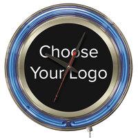 Holland Bar Stool 15 inch Neon NCAA Logo Clock