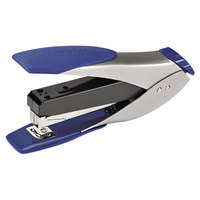 Swingline 66532 SmartTouch 25 Sheet Silver / Blue Half Strip Compact Stapler