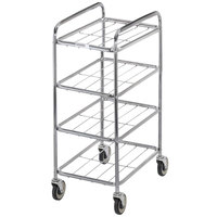 Channel UC0904 Chrome Plated Four Shelf Mobile Rack 43 inch x 18 inch x 26 inch