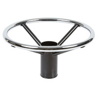 Lancaster Table & Seating Chrome Foot Ring for Bar Height Metal Table Base - 17 1/4 inch Diameter