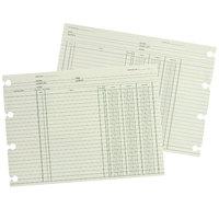 Wilson Jones GN2B 9 1/4 inch x 11 7/8 inch Green Accounting Sheet - 100/Pack