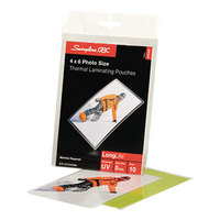 Swingline 3747322 LongLife 4 1/4 inch x 6 3/8 inch ID Badge Thermal Laminating Pouch - 10/Pack