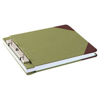 Wilson Jones 27827 Green Canvas Sectional Storage Post Binder - 3 inch Capacity, 4 1/4 inch Centers