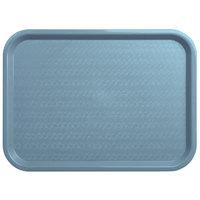 Carlisle CT121659 Cafe 12 inch x 16 inch Slate Blue Standard Plastic Fast Food Tray