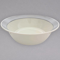 Thunder Group SD6018H Graham 10 Qt. Ivory Melamine Bowl with Gray Edge