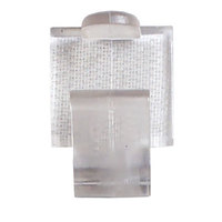 Snap Drape BV Clear Plastic Table Skirt Clip with Velcro® Attachment - 100/Bag