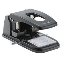Swingline 74190 100 Sheet Black and Gray 2 Hole Punch - 9/32 inch