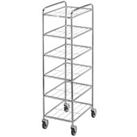 Channel UC1826-6 Chrome Plated Six Shelf Mobile Rack 65 inch x 21 inch x 26 inch