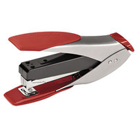 Swingline 66533 SmartTouch 25 Sheet Silver / Red Half Strip Compact Stapler