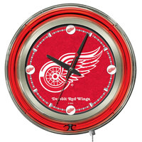 Holland Bar Stool Clk15DetRed Detroit Red Wings 15 inch Neon Clock