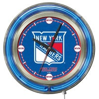 Holland Bar Stool Clk15NYRang New York Rangers 15 inch Neon Clock
