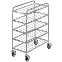Channel UC0705 Chrome Plated Five Shelf Mobile Rack 42 inch x 16 inch x 33 inch