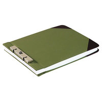 Wilson Jones 27826 Green Canvas Sectional Storage Post Binder - 3 inch Capacity, 2 3/4 inch Centers