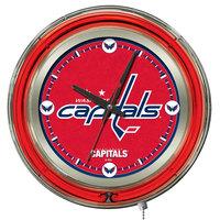 Holland Bar Stool Clk15WshCap Washington Capitals 15 inch Neon Clock