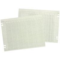 Wilson Jones G5024 11 inch X 17 inch Green 24 Column Accounting Sheet - 100/Pack