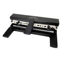 Swingline 74440 40 Sheet Black Adjustable 2-to-7 Hole Punch - 9/32 inch