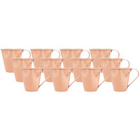 Acopa 18 oz. Tapered Moscow Mule Cup with Hammered Copper Finish - 12/Pack