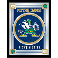 Holland Bar Stool MLogoND-Lep 17 inch x 22 inch University of Notre Dame Decorative Logo Mirror