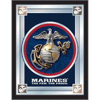 Holland Bar Stool MLogoMarine 17 inch x 22 inch United States Marine Corps Decorative Logo Mirror