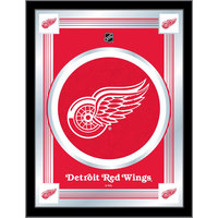 Holland Bar Stool MLogoDetRed 17 inch x 22 inch Detroit Red Wings Decorative Logo Mirror