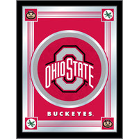 Holland Bar Stool MLogoOhioSt 17 inch x 22 inch Ohio State University Decorative Logo Mirror