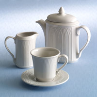 Homer Laughlin 427000 Gothic 7.75 oz. Ivory (American White) China Creamer - 36/Case