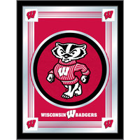 Holland Bar Stool MLogoWI-Bdg 17 inch x 22 inch University of Wisconsin Decorative Logo Mirror