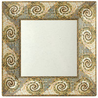GET ML-103-MO Mosaic 8 inch Square Plate - 12/Pack