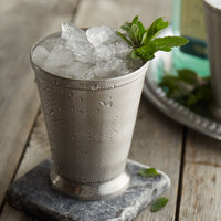 Acopa 16 oz. Stainless Steel Mint Julep Cup with Smooth Finish and Beaded Detailing - 12/Pack