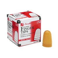 Swingline 54035 Size 11 1/2 (Medium) Amber Rubber Finger Tip - 12/Pack