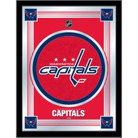 Holland Bar Stool MLogoWshCap 17 inch x 22 inch Washington Capitals Decorative Logo Mirror