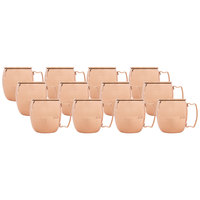 Acopa 16 oz. Moscow Mule Cup with Hammered Copper Finish - 12/Pack