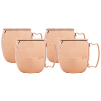Acopa 16 oz. Moscow Mule Cup with Hammered Copper Finish - 4/Pack