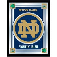 Holland Bar Stool MLogoND-ND 17 inch x 22 inch University of Notre Dame Decorative Logo Mirror
