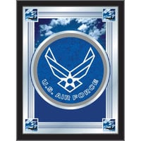Holland Bar Stool MLogoAirFor 17 inch x 22 inch United States Air Force Decorative Logo Mirror