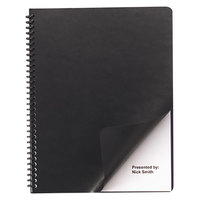 Swingline GBC 9742491 8 1/2 inch x 11 inch Black Leather-Look Binding System Cover - 200/Box