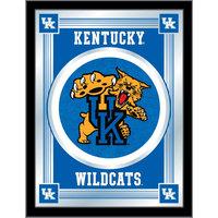 Holland Bar Stool MLogoUKYCat 17 inch x 22 inch University of Kentucky Decorative Logo Mirror