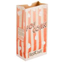 Bagcraft Packaging 300611 4 1/4 inch x 2 1/2 inch x 8 1/4 inch 46 oz. EcoCraft Popcorn Bag - 1000/Case