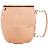Acopa 16 oz. Moscow Mule Cup with Hammered Copper Finish