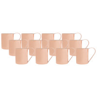 Acopa 14 oz. Straight Sided Moscow Mule Cup with Smooth Copper Finish - 12/Pack