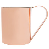 Core 14 oz. Straight Sided Moscow Mule Cup with Smooth Copper Finish - 4/Pack