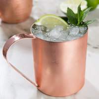 Acopa Alchemy 14 oz. Straight Sided Copper Moscow Mule Mug - 4/Pack