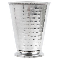 Core 16 oz. Stainless Steel Mint Julep Cup with Hammered Finish and Beaded Detailing   - 12/Case