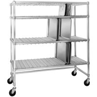 Channel FTDR-4/PP Heavy-Duty Aluminum Tray Drying Rack - 60 inch x 63 inch x 30 inch