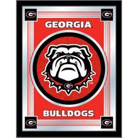 Holland Bar Stool MLogoGA-Dog 17 inch x 22 inch University of Georgia Decorative Logo Mirror