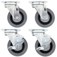 Garland and US Range Equivalent Swivel Plate Casters for S and H Series Ranges   - 4/Set