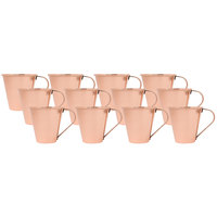 Acopa 18 oz. Tapered Moscow Mule Cup with Smooth Copper Finish - 12/Pack